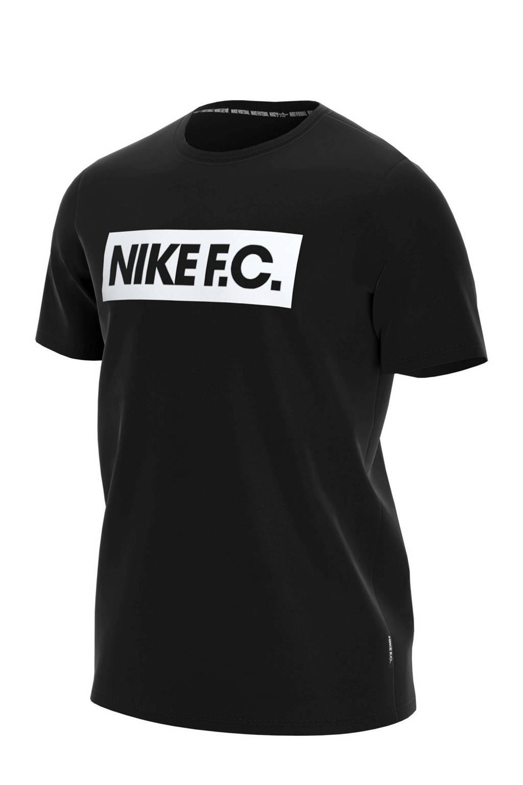 Nike T-shirt zwart/wit, Zwart/wit
