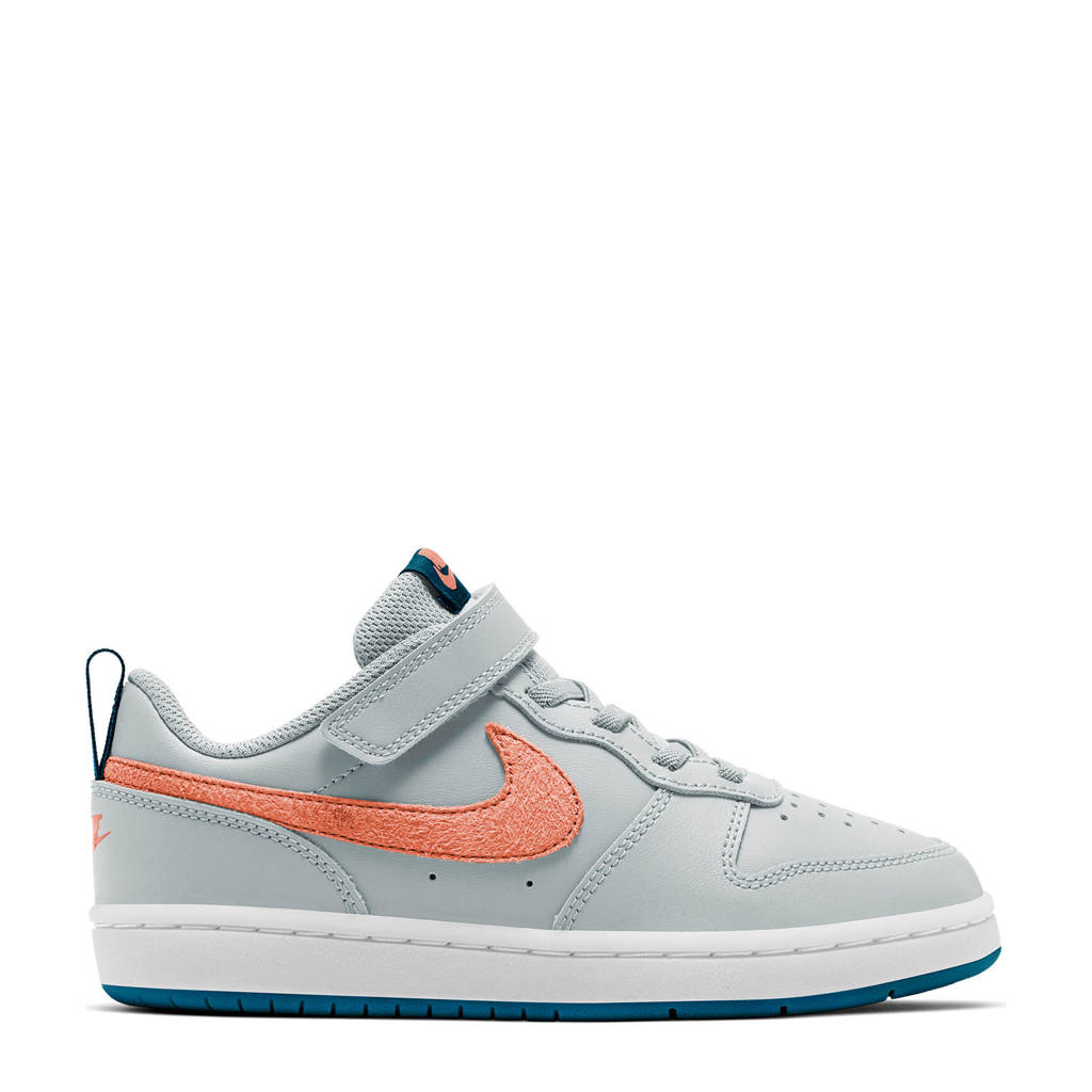 Nike Court Borough Low 2  sneakers grijs/oranje/blauw, Grijs/oranje/blauw