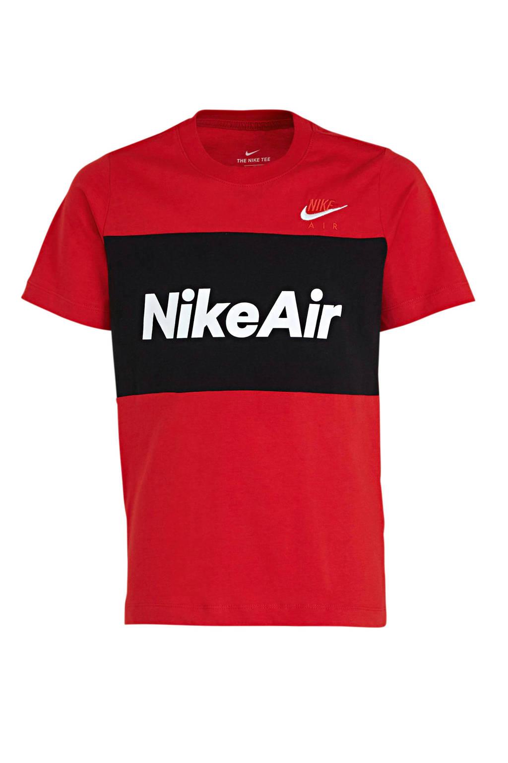 Nike T-shirt rood/zwart, Rood/zwart