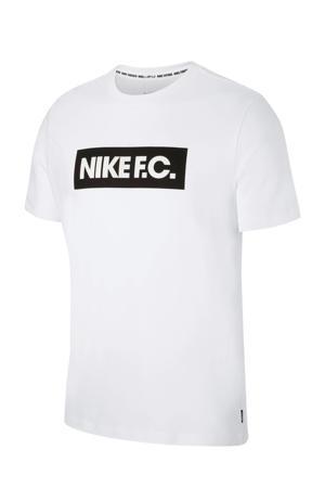 voetbalshirt wit/zwart