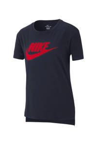 Nike T-shirt donkerblauw/rood, Donkerblauw/rood