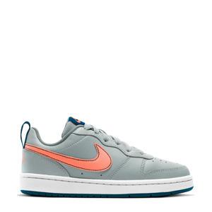 Court Borough Low 2 (GS) leren sneaker grijs/oranje