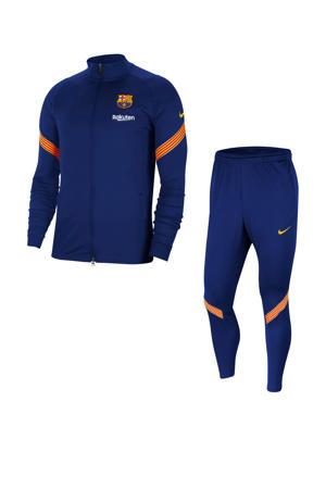 Senior FC Barcelona trainingspak donkerblauw