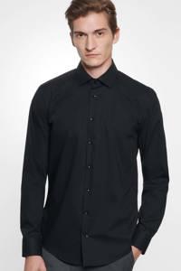 Seidensticker slim fit overhemd zwart, Zwart