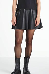 VILA imitatieleren rok zwart, Zwart