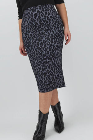 rok met panterprint grijs/zwart