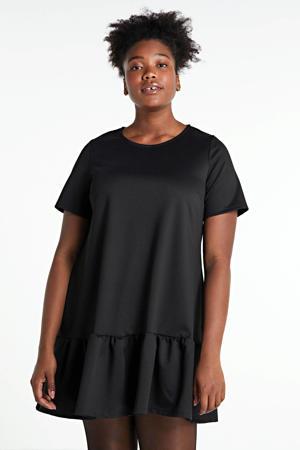 A-lijn jurk PONTE  met plooien zwart