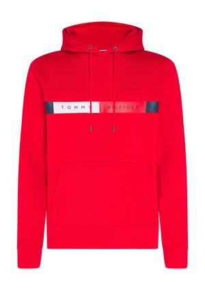 +size hoodie met biologisch katoen rood