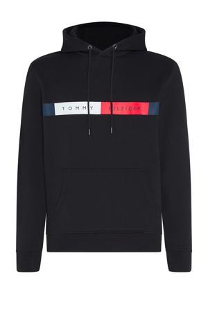 +size hoodie met biologisch katoen zwart