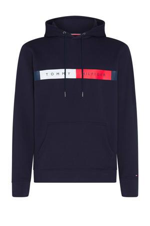 +size hoodie met biologisch katoen donkerblauw