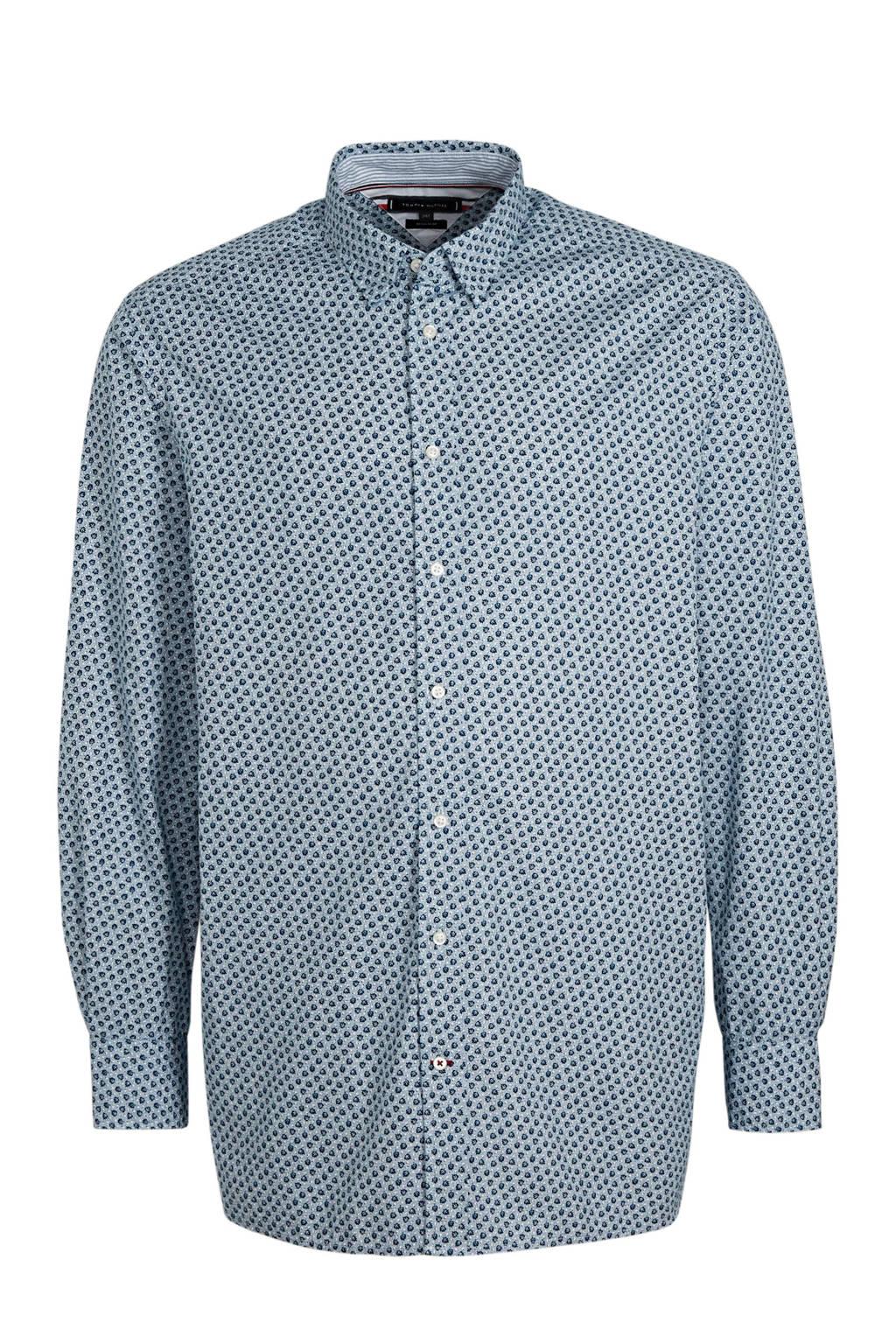 Tommy Hilfiger Big & Tall +size regular fit overhemd lichtblauw, Lichtblauw