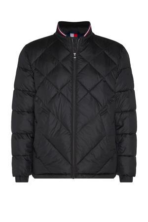 +size jas zwart