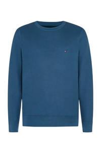Tommy Hilfiger Big & Tall +size fijngebreide trui van biologisch katoen blauw, Blauw