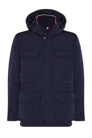 +size jas donkerblauw