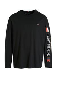Tommy Hilfiger Big & Tall +size T-shirt met printopdruk zwart/wit/rood, Zwart/wit/rood