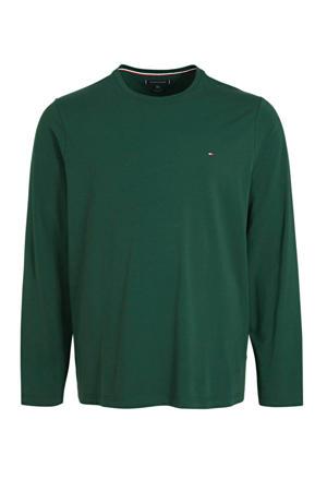 +size T-shirt met biologisch katoen donkergroen