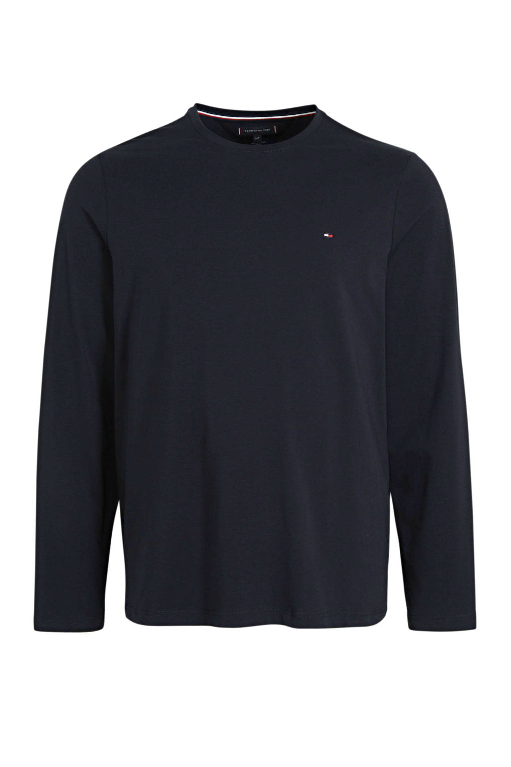 Tommy Hilfiger Big & Tall +size T-shirt met biologisch katoen donkerblauw, Donkerblauw