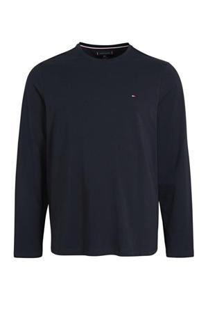 +size T-shirt met biologisch katoen donkerblauw