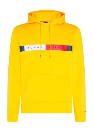 +size hoodie met biologisch katoen geel