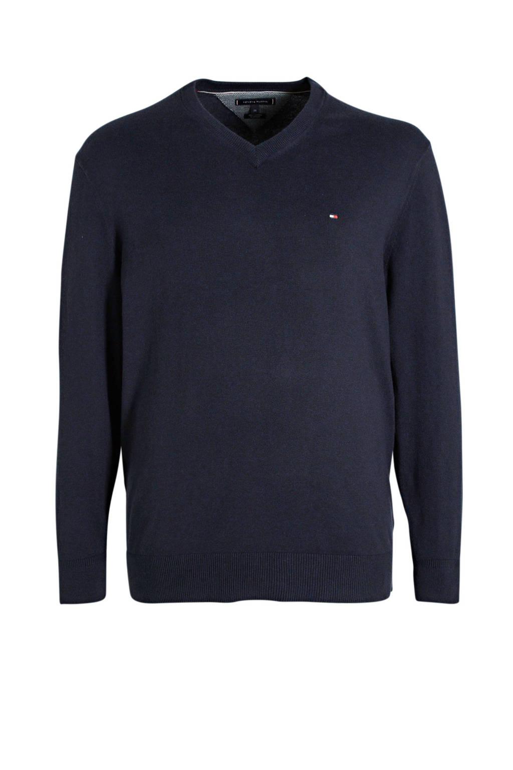 Tommy Hilfiger Big & Tall +size trui donkerblauw, Donkerblauw