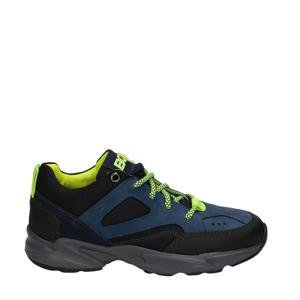 Finn Fit  leren sneakers blauw/geel