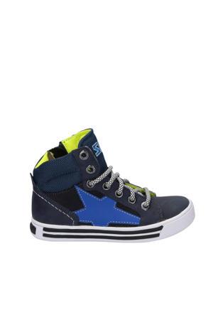 Dylan Day  hoge leren sneakers blauw