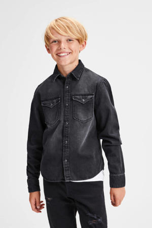 denim overhemd Western black denim