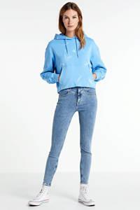 CALVIN KLEIN JEANS tie-dye hoodie Lave dye crop van biologisch katoen powdery blue, Powdery Blue
