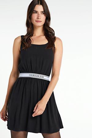 jurk met plooien ck black