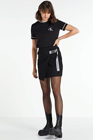 rok Buckle logo strap zwart