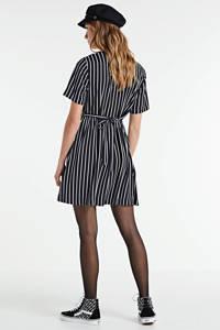 CALVIN KLEIN JEANS gestreepte A-lijn jurk ck black / bright white stripe, CK Black / Bright White Stripe