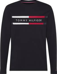 Tommy Hilfiger longsleeve van biologisch katoen zwart, Zwart