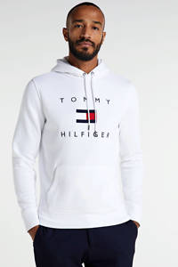 Tommy Hilfiger hoodie met logo wit/rood/blauw, Wit/rood/blauw