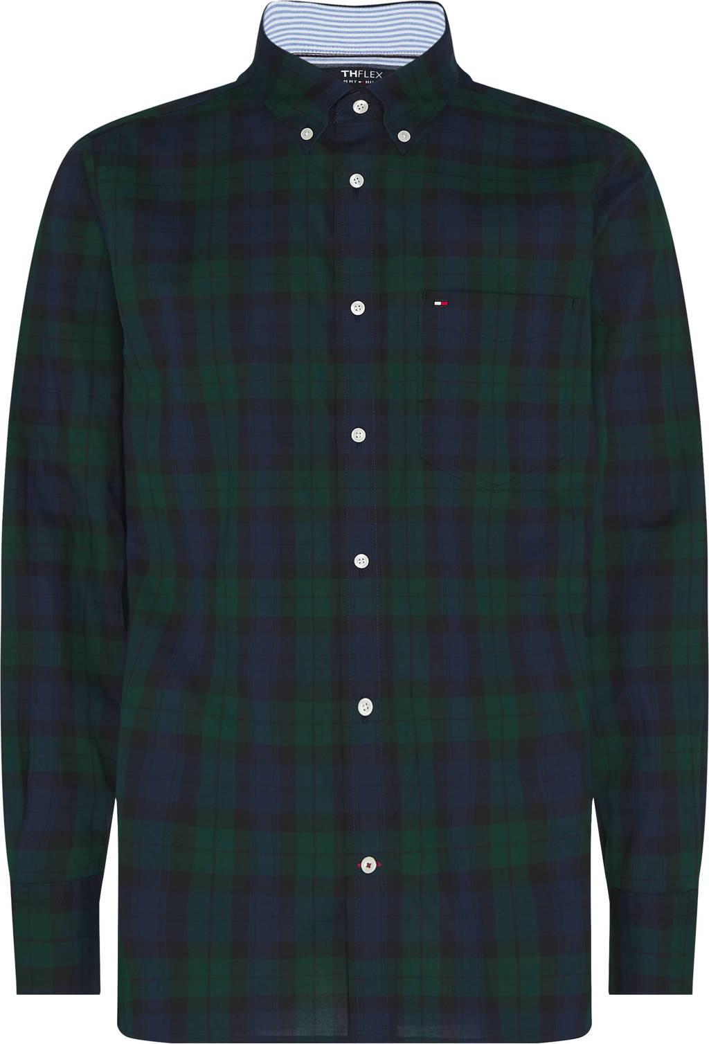 Tommy Hilfiger geruit regular fit overhemd donkergroen, Donkergroen