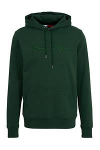 Tommy Hilfiger hoodie met tekst donkergroen, Donkergroen