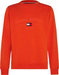 Tommy Hilfiger sweater van biologisch katoen oranje, Oranje