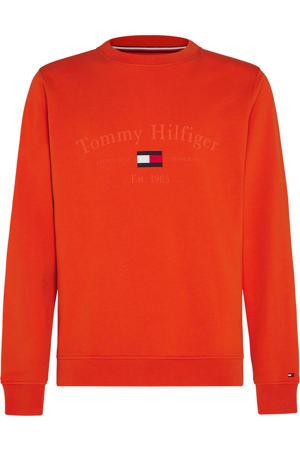 sweater van biologisch katoen oranje