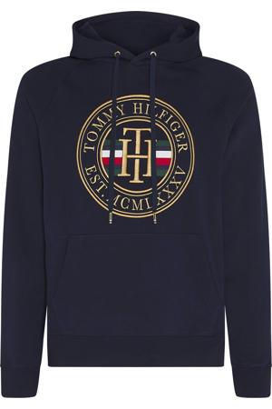 hoodie met logo donkerblauw