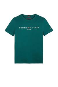 Tommy Hilfiger T-shirt van biologisch katoen donkergroen, Donkergroen