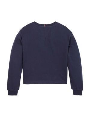 sweater met logo donkerblauw