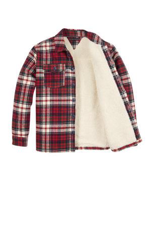geruit overhemd rood/groen/wit