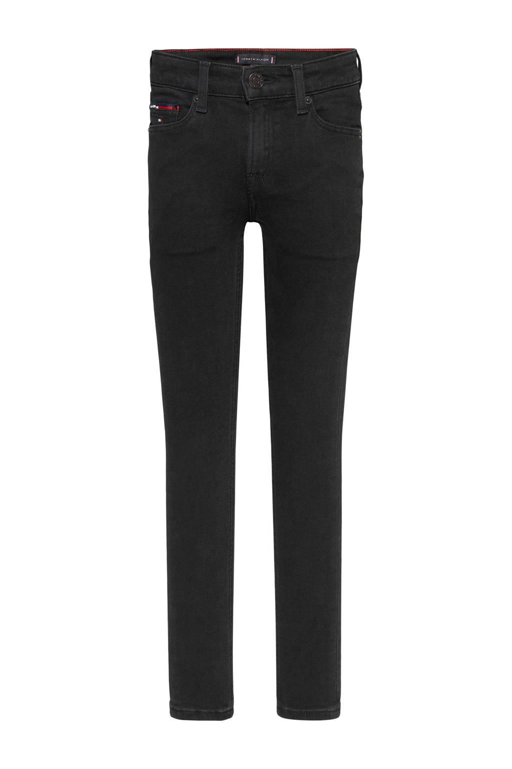 Tommy Hilfiger super skinny jeans Simon zwart, Zwart