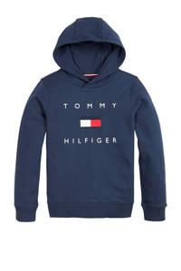 Tommy Hilfiger hoodie met logo donkerblauw/wit/rood, Donkerblauw/wit/rood