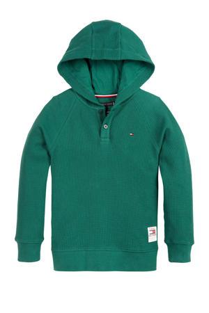 hoodie met textuur groen