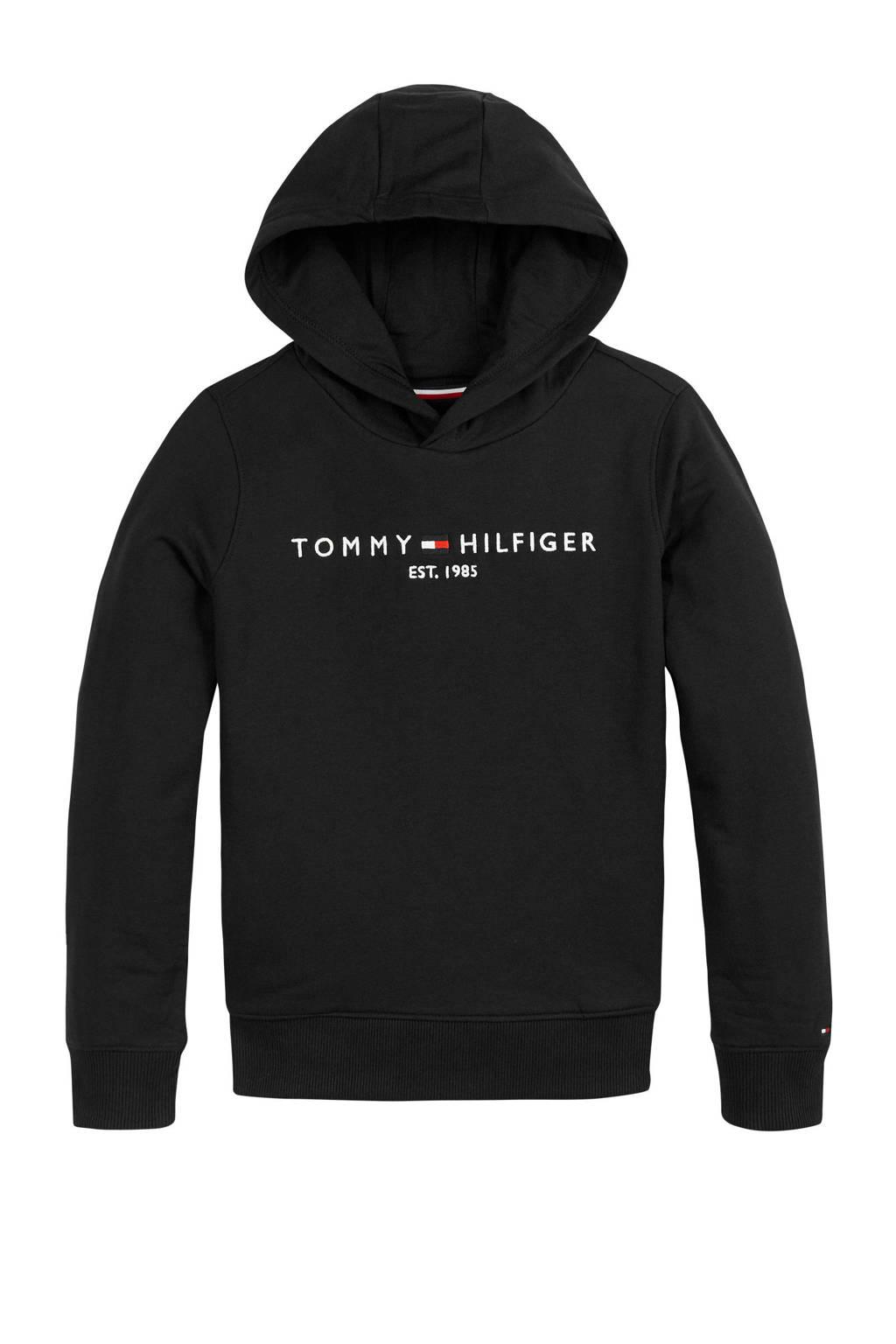 Tommy Hilfiger hoodie met logo zwart, Zwart