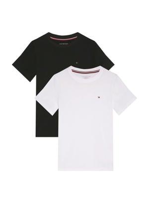 T-shirt - set van 2 donkerblauw/wit