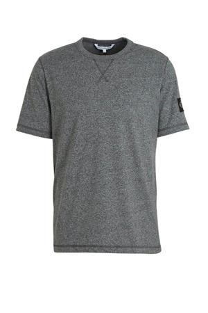 gemêleerd T-shirt van biologisch katoen zwart