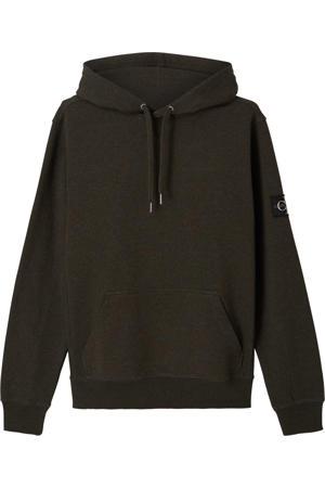 gemêleerde hoodie donkergroen