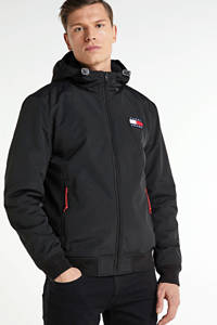 Tommy Jeans jack met logo zwart, Zwart