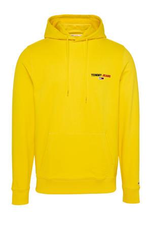 hoodie met biologisch katoen geel